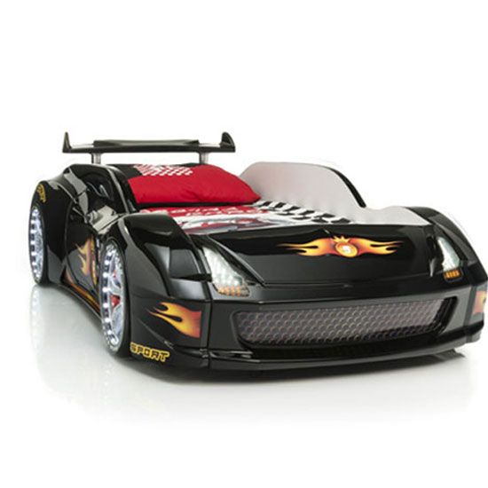 Lamborghini Childrens Racing Car Bed Black With LED Lights #carbed