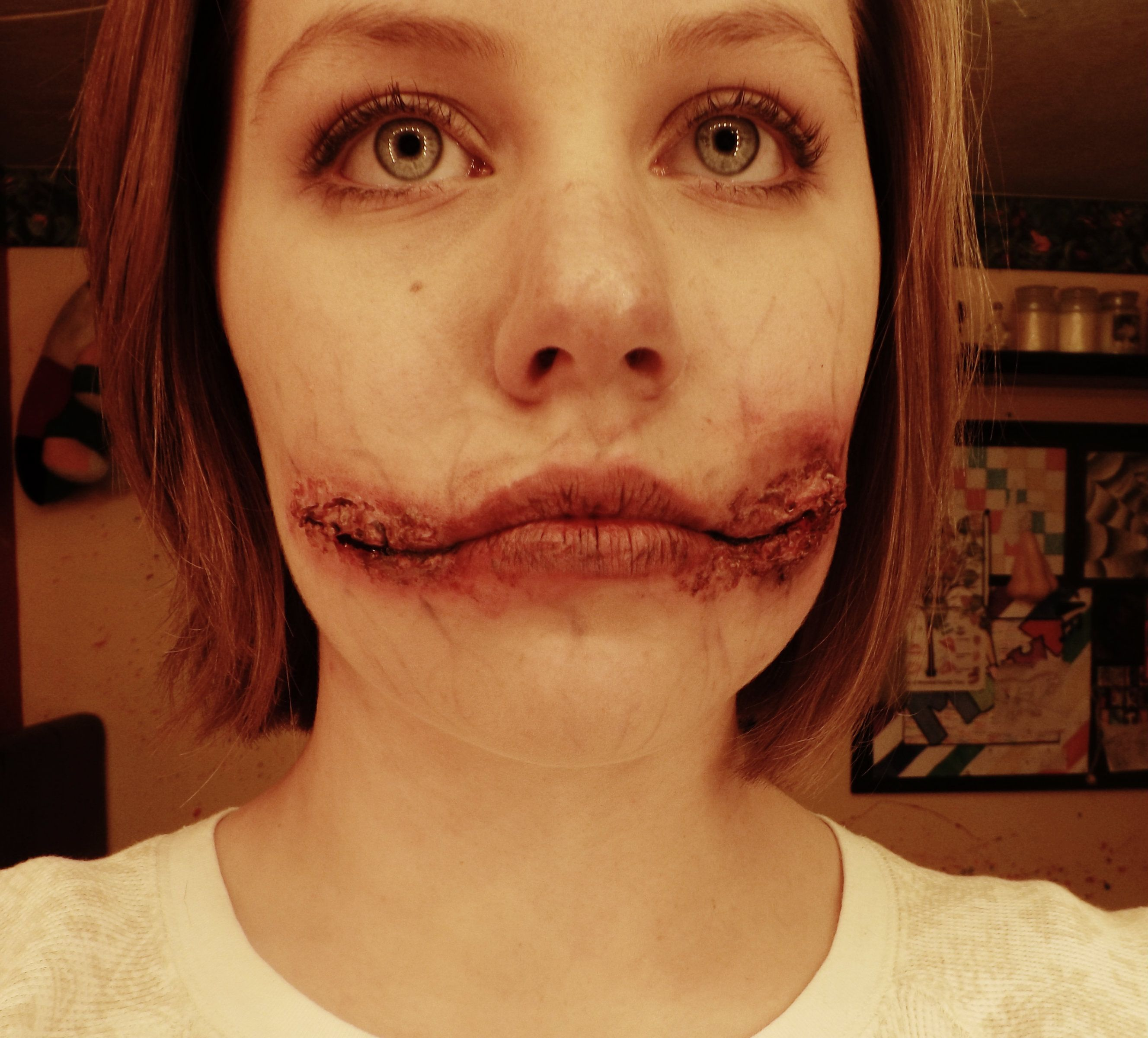 Chelsea smile special effects makeup. -Molly King | Special ...