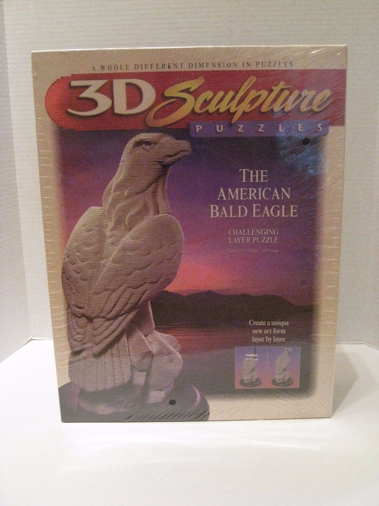New 3D Sculpture Puzzle The American Bald Eagle 197 Challenging