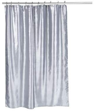 Carnation Home Fashions Shimmer Faux Silk Shower Curtain In Pewter