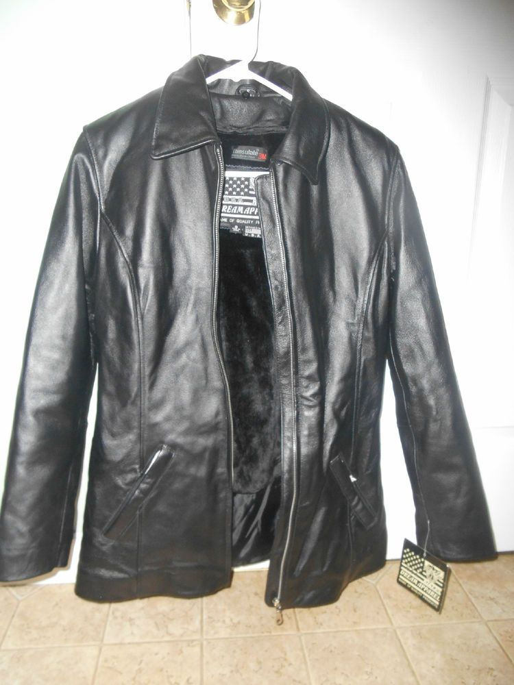 LADIES SOFT LEATHER COAT - SIZE SMALL ADULT #Unbranded #BasicJacket
