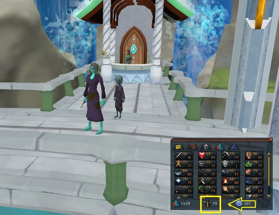 Got this account into Prifddinas at combat 79, see the arrow - new osrs world map in game