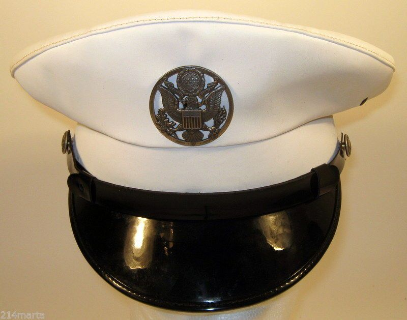 ef1b69c6588 US Air Force USAF Security Police SP Enlisted Service Dress White Hat Cap 7  1 2
