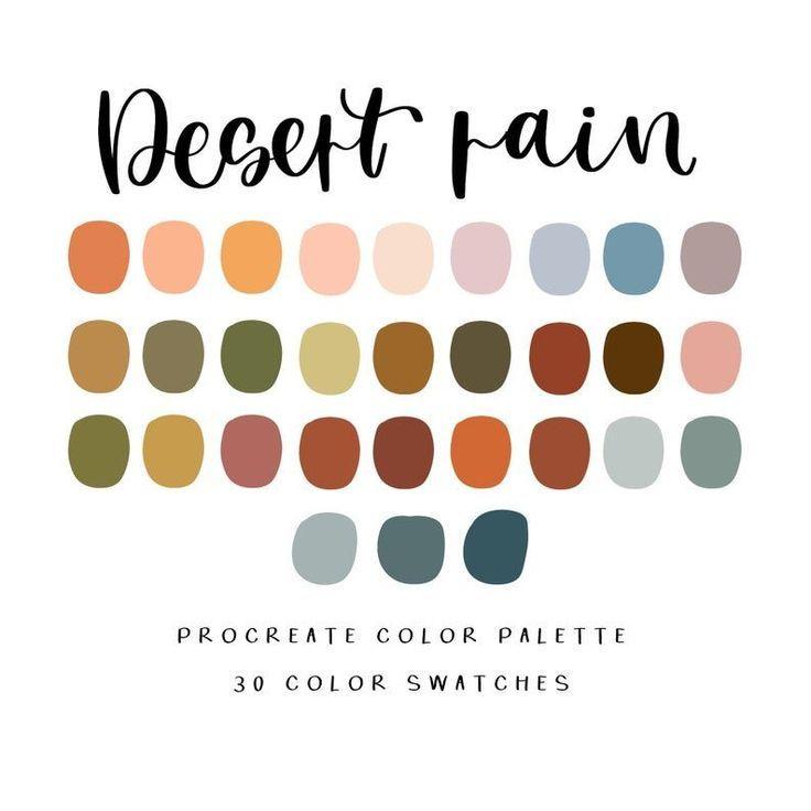 Desert Rain color palette/ procreate palette/ iPad Pro | Etsy