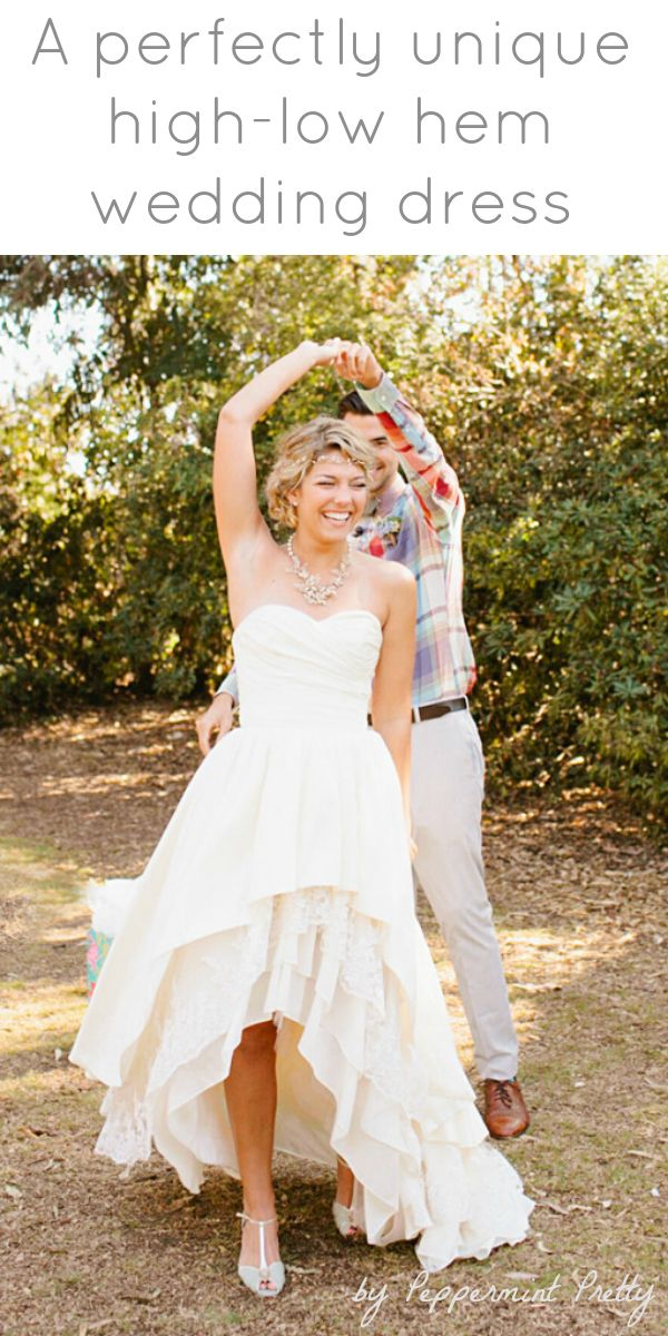 A Wedding Gown with Ruffle Hem