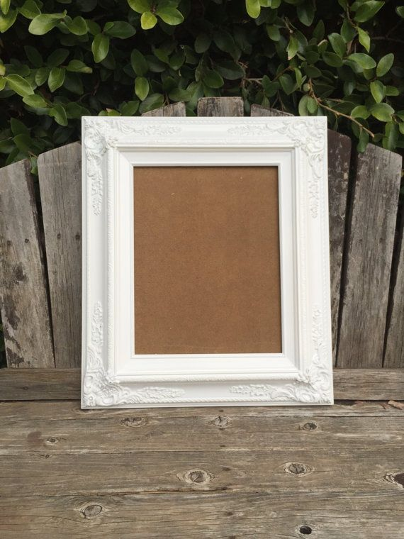 White 11x14 Picture Frame Baroque Wedding By Thepaintedldy On Etsy 11x14 Picture Frame Picture Frames Frame