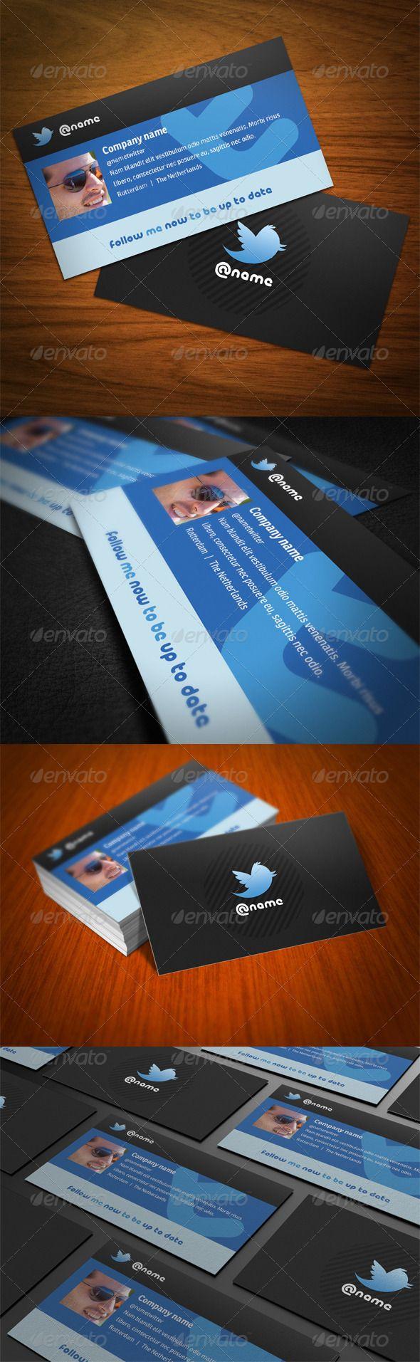 Instagram Facebook Twitter Business Card Zazzle Com Business Card Template Design Business Card Design Business Card Template