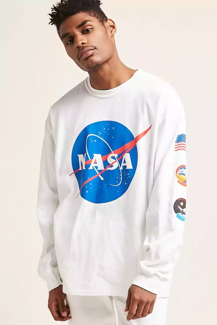 62945473 Product Name:NASA Graphic Long-Sleeve Tee, Category:mens-top-picks,  Price:19.9