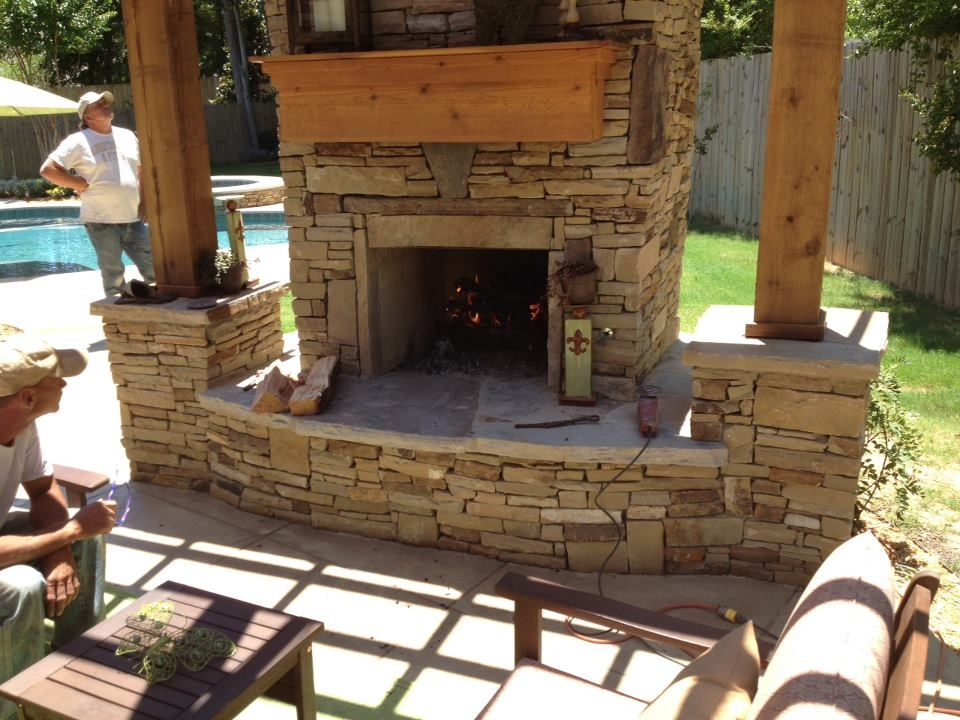 Outdoor Kitchens And Fireplaces Custom Outdoor Fireplaces