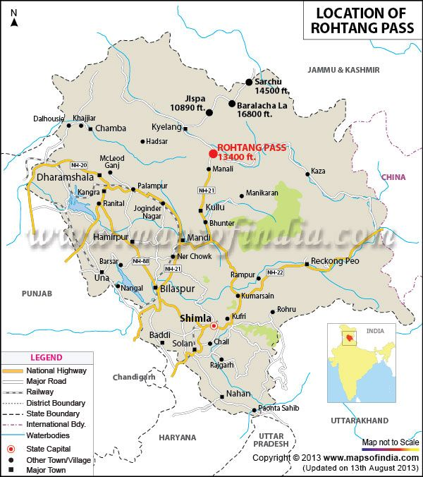 manali in india map Location Map Of Rohtang Pass Travel And Leisure India Travel manali in india map