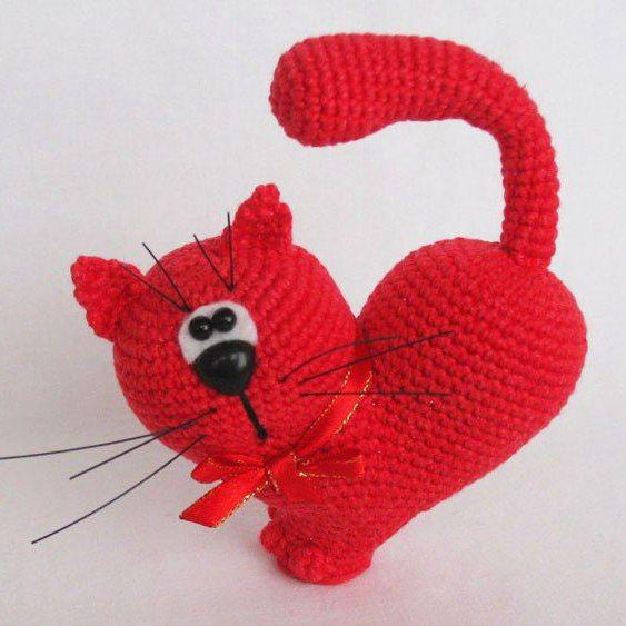 Amigurumi Valentine patrón de ganchillo de gato | amigurumis ...
