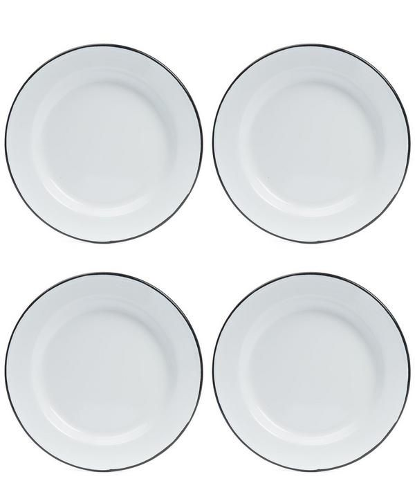 Designed With Casual Everyday Dining In Mind, This Set Of Four Falcon Enamel  Plates Are