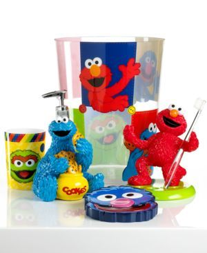 Jay Franco Bath Accessories Sesame Street Retro Toothbrush Holder Bedding 32281022839 B Is