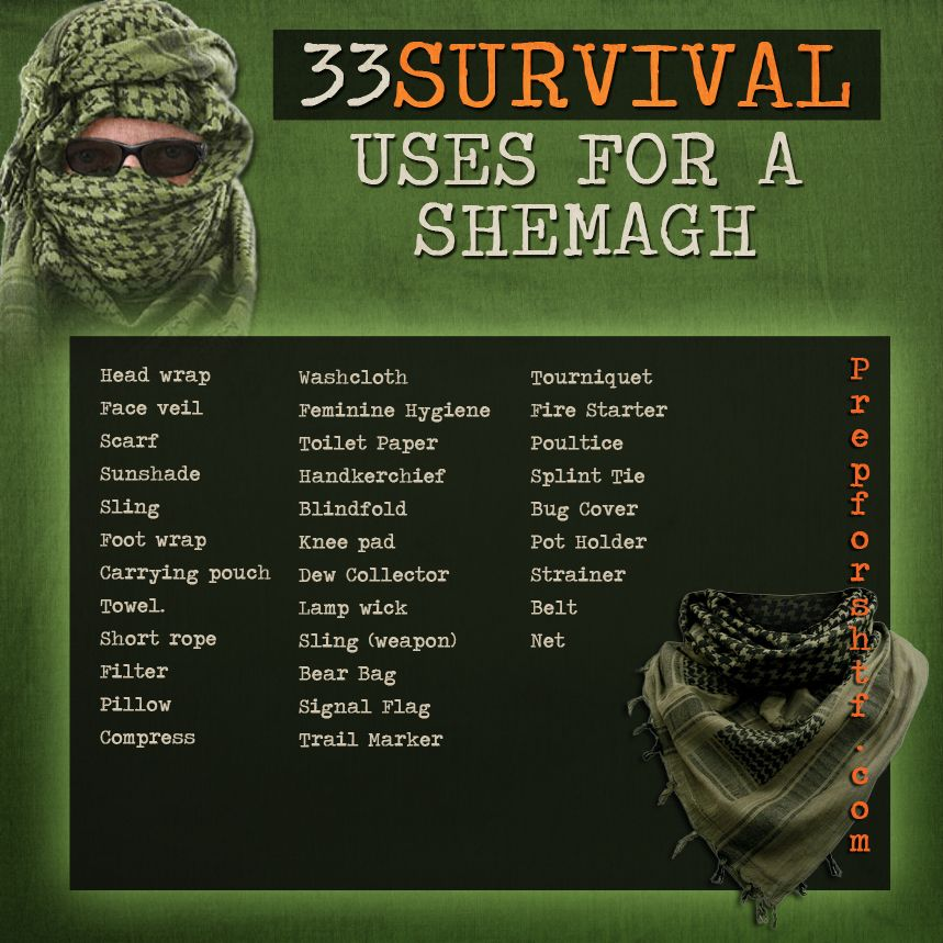 33 Survival Uses For a Shemagh (Graphic) | #preparedness #clothing