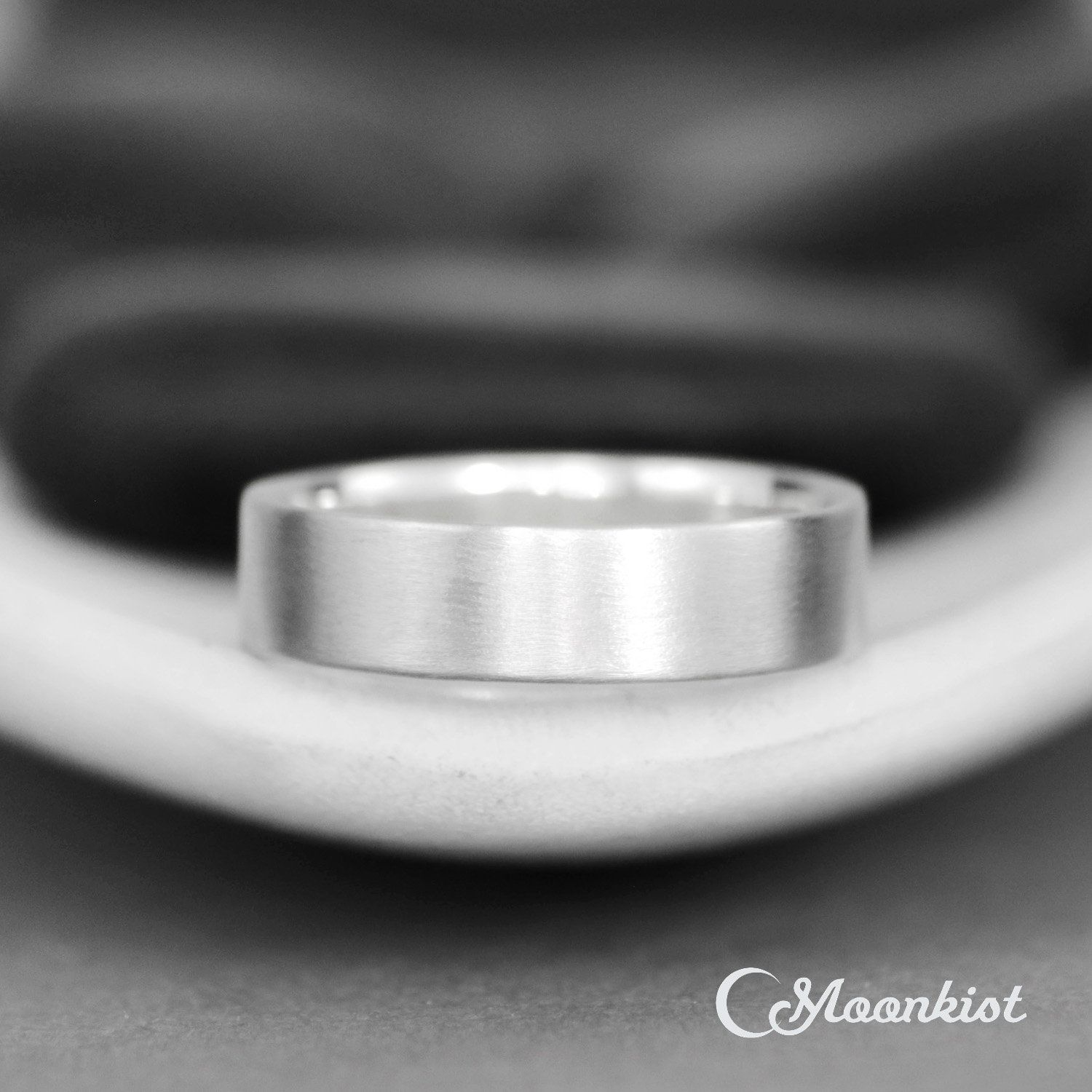 Modern Mens Wedding Band Sterling Silver Wedding Band With Images