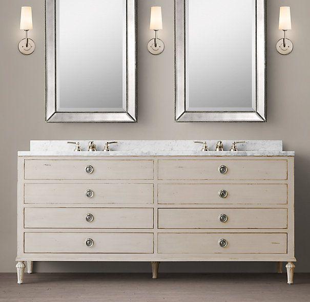 Maison Double Vanity Sink Master Bath Pinterest Vanity Sink - Pre made bathroom vanities