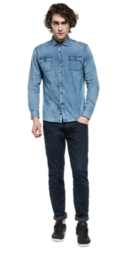 Camisa de denim elástico m4906 .000.15a 896
