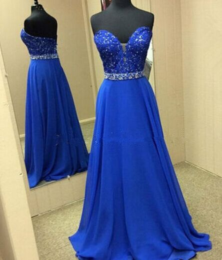 Royal Blue Prom Dresses,2016 Evening Dresses,New Fashion Prom Gowns,Elegant Prom Dress,Lace Prom Dresses,Chiffon Evening Gowns,Backless Formal Dress