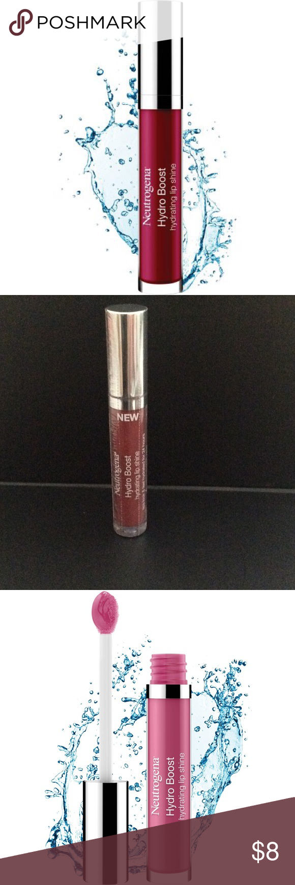 New Neutrogena Hydro Boost Lip Shine Full Size NWT Lip