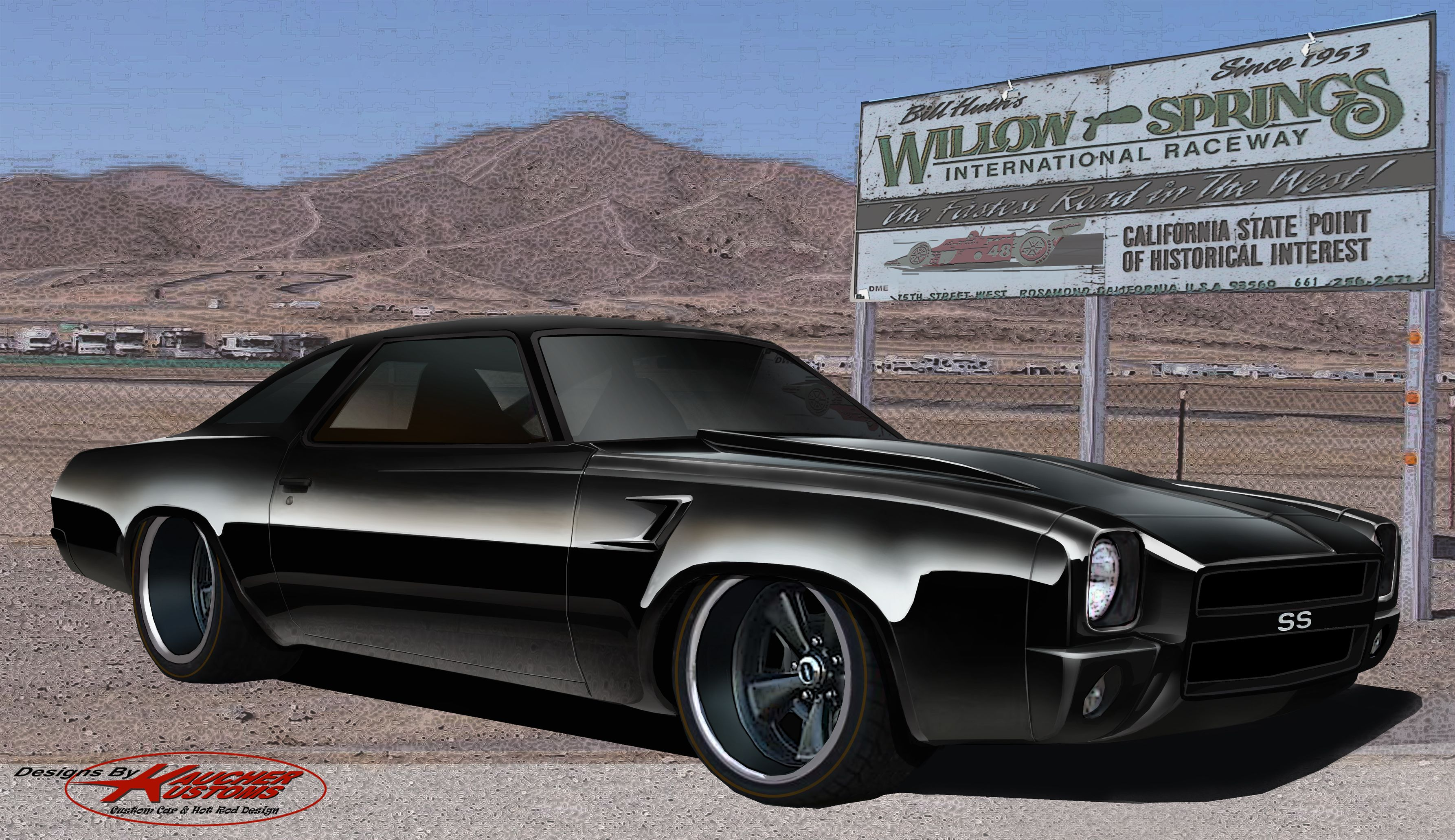 73 chevelle ss custom short bumpered front end concept i did for chevelle magazine