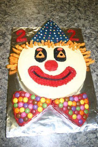Stupendous Kid Birthday Party Cake Gallery Birthday Clown Clown Cake Funny Birthday Cards Online Inifodamsfinfo