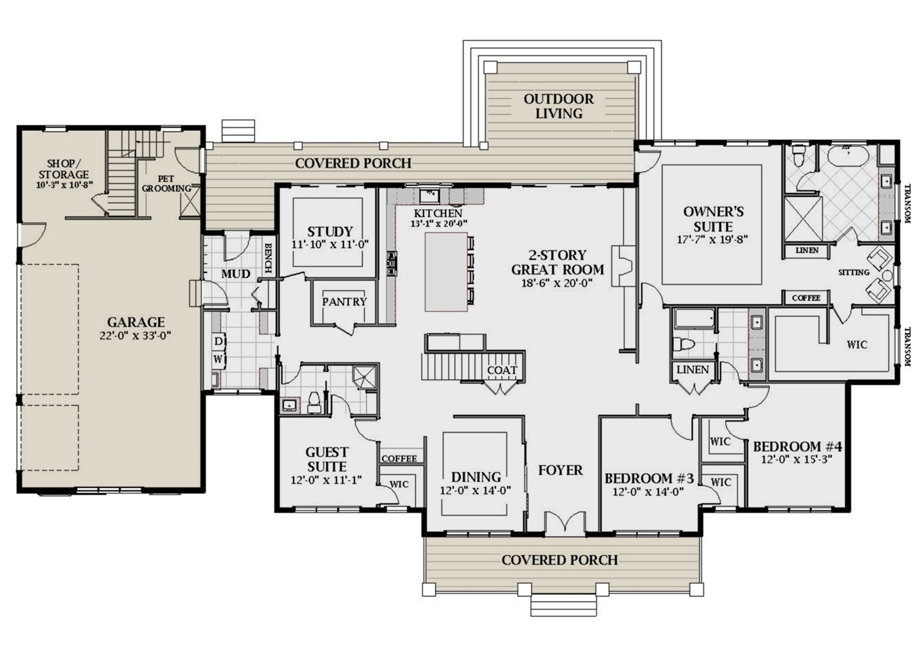 House Plan 6849 00089 Modern Farmhouse Plan 4 991 Square Feet