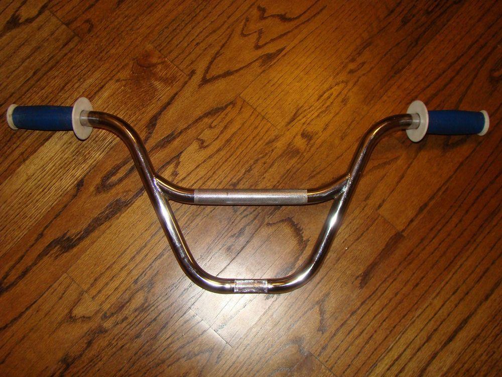 Excellent Vintage Dyno Bmx Bicycle Handlebars Cr Mo W Mushroom Grips Bmx Bicycle Bmx Handlebars Bicycle Handlebars
