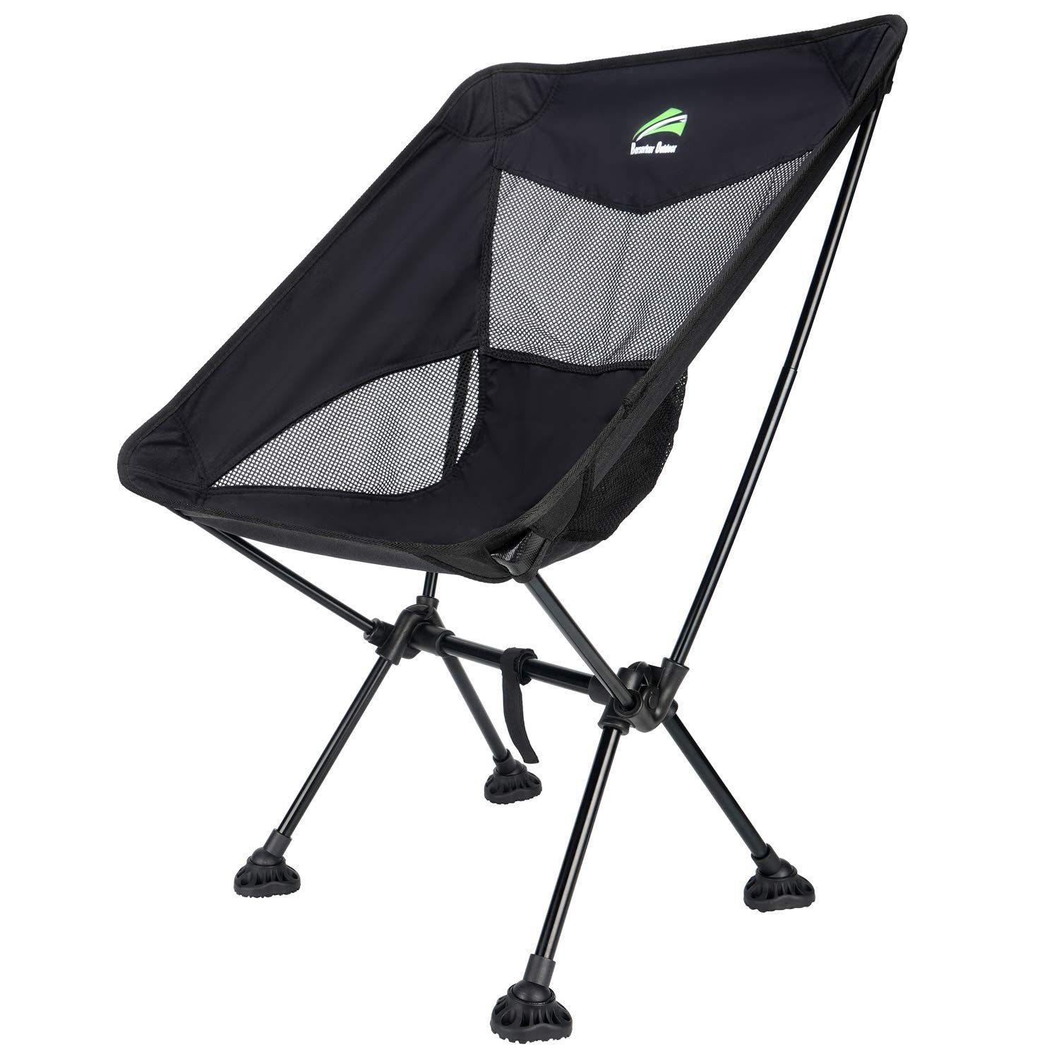 Berserker Outdoor Ultralight Compact Folding Camping Chairs Portable Lightweight Backpack Hiking Chair With All Terrain Large Feet