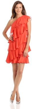 Halston Heritage Women's One-Shoulder Tiered Dress on shopstyle.com