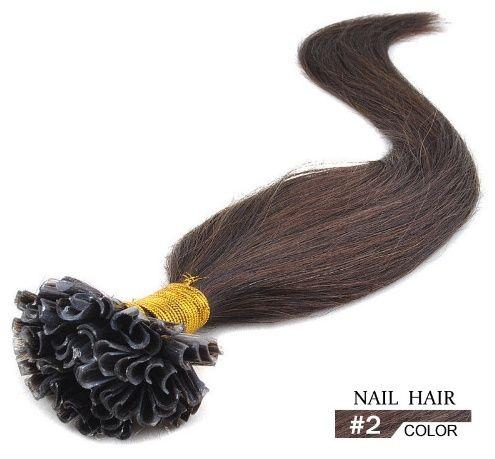 50 U-tip extensions / bruin #2 / 1 gram