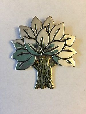 01a9c8f7d91 James Avery Retired Tree Pin or Brooch Brass and Sterling Rare ...