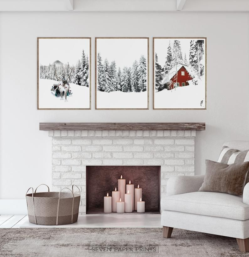 Winter Wonderland Printable Set Of 3 Piece Christmas Gallery Etsy Christmas Gallery Wall Gallery Wall Art Prints Art Gallery Wall