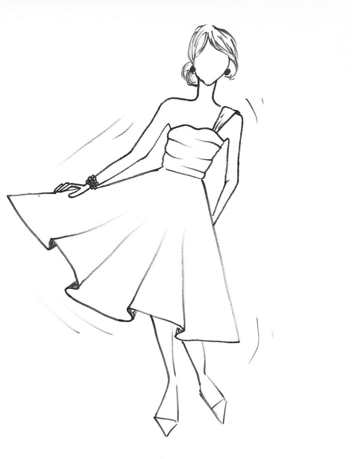 Cute And Easy Drawing With Images Dress Drawing Dress Drawing