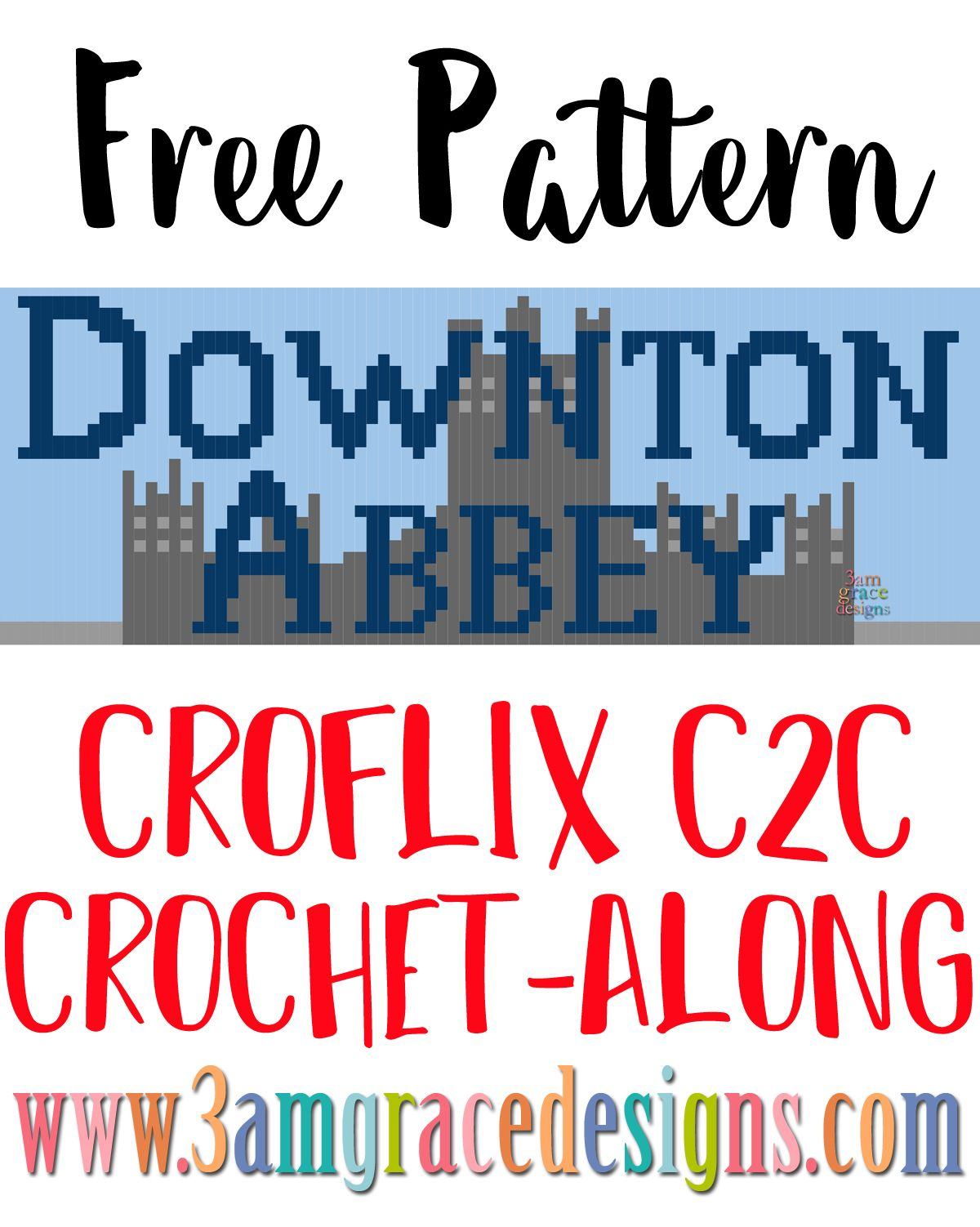 Croflix C2C CAL - Downton Abbey - Free Crochet Pattern