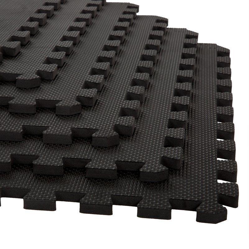 3 8 Foam Tiles In Black Mat
