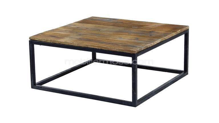 Table basse au style industriel et r tro smoldy salon - Table de salon antique ...