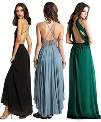 1eb098072 Backless Dress Fashion -- A collection of articles on open back dresses