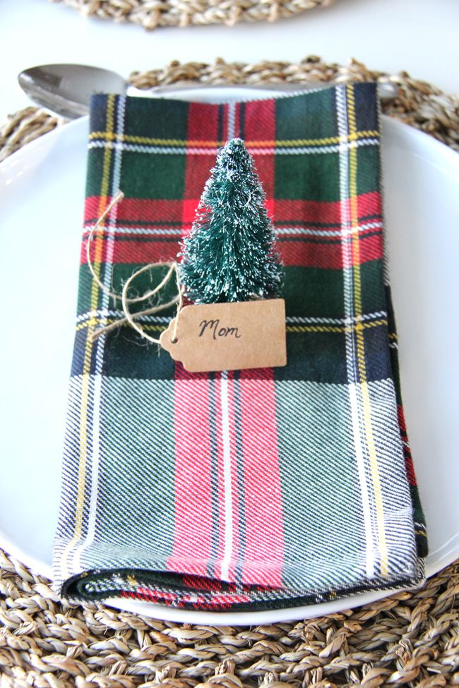 Christmas Place Setting Ideas A Pretty Life In The