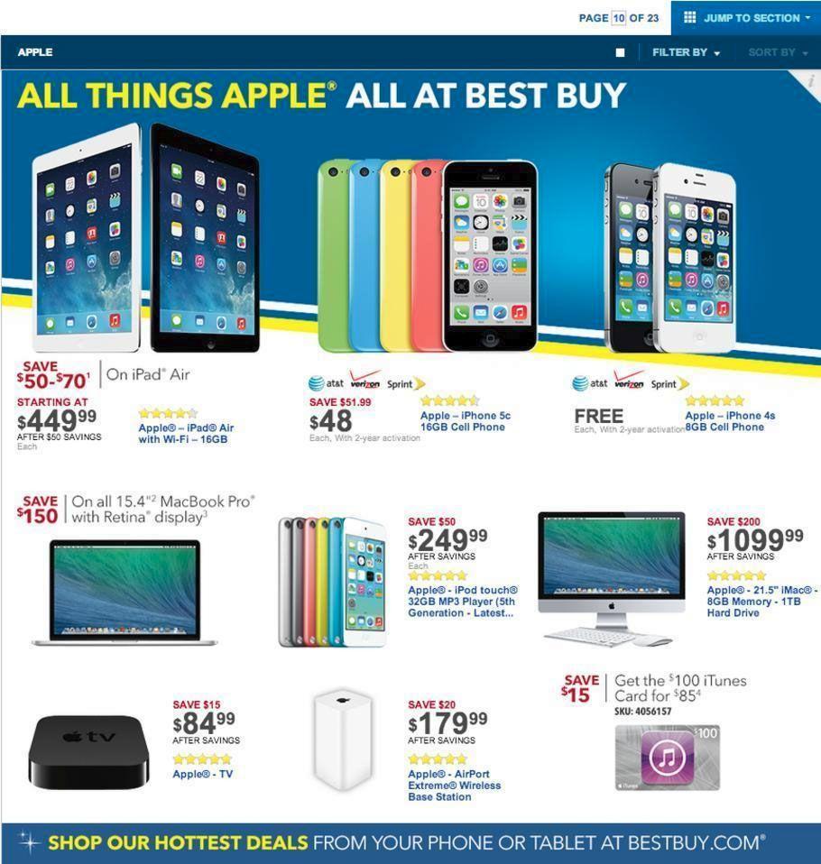 Apple Sales at Best Buy - 31 Leaked Black Friday Deals for