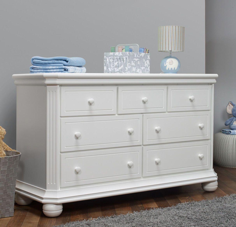 Sorelle Vista Elite 7 Drawer Dresser White 7 drawer