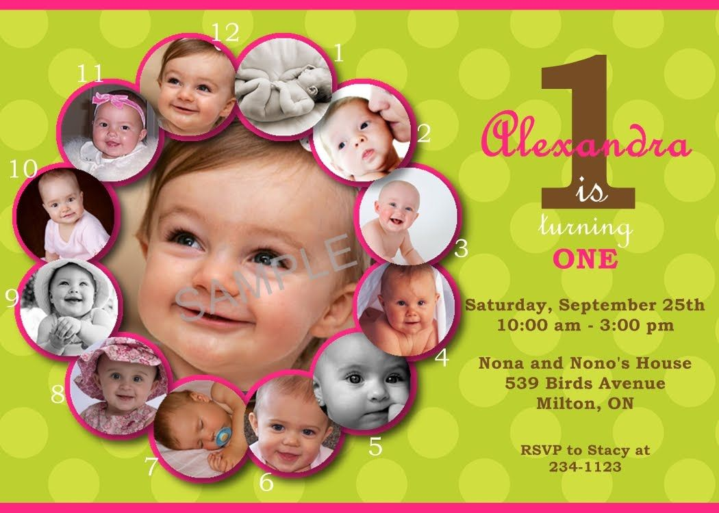 First Birthday Invitations Templates Free Birthdays Pinterest