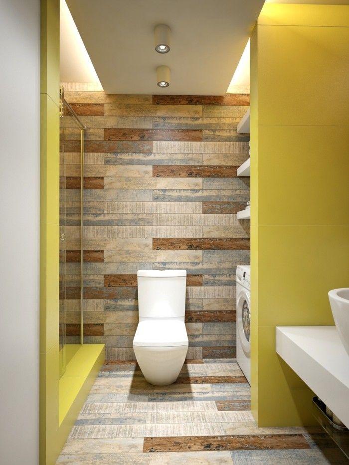 wandgestaltung ideen badezimmer einrichten gelbe wände Baños - ideen für badezimmer