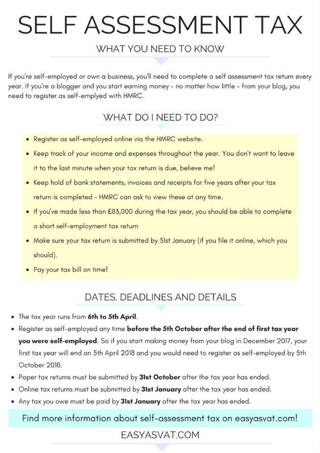 Self Assessment Tax Advice For Bloggers And Small Businesses