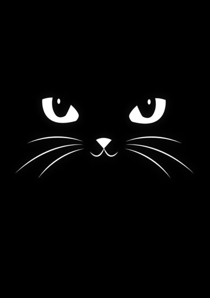 Cute Black Cat by Badbugs art