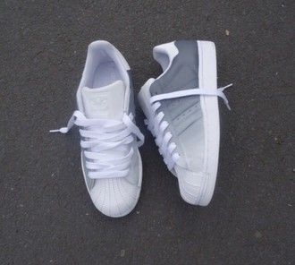 d9f6a4b3cd5 shoes adidas superstars adidas ombre grey white adidas shoes adidas  originals sneakers white sneakers superstar
