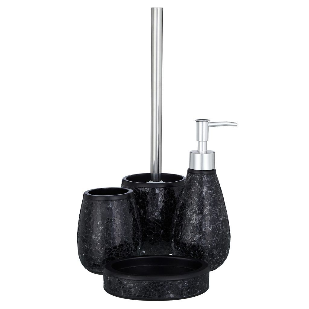 Delightful Black Sparkle Bathroom Accessories