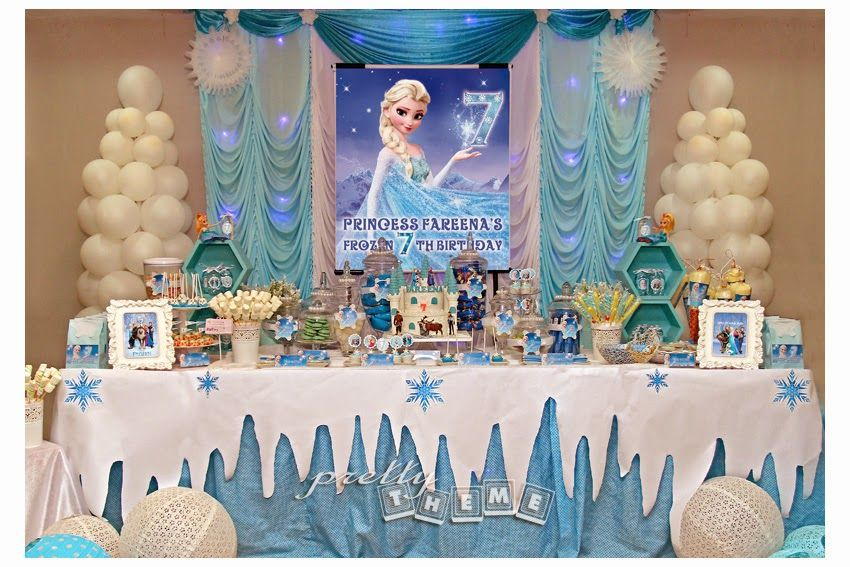 Candy Buffet Frozen Themed Birthday Party Frozen Birthday Frozen Birthday Party