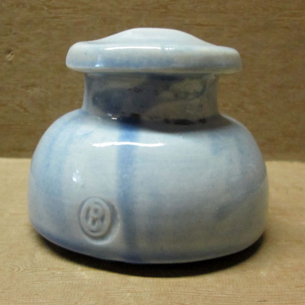 OHIO BRASS PORCELAIN INSULATOR, Cable Top, Light Blue | Insulators ...