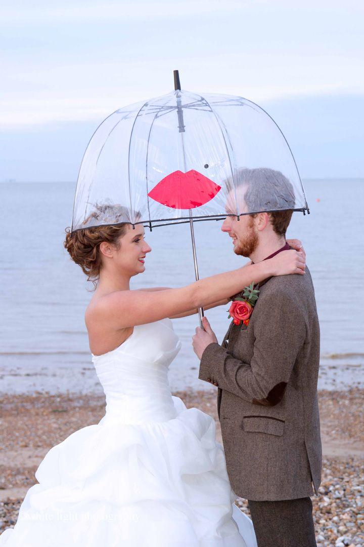 Beach-side wedding   bride and groom wedding portraits