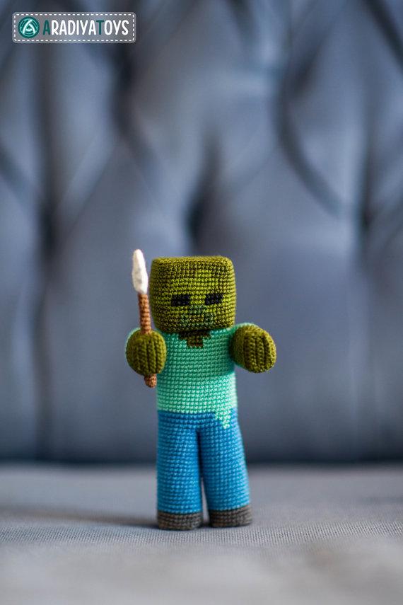 Crochet Pattern Of Zombie With A Shovel Amigurumi Tutorial Pdf